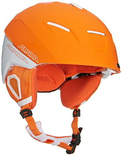 Alpina Skihelm Cheos, Mehrfarbig (White-Orange Matt), Gr.  58-61