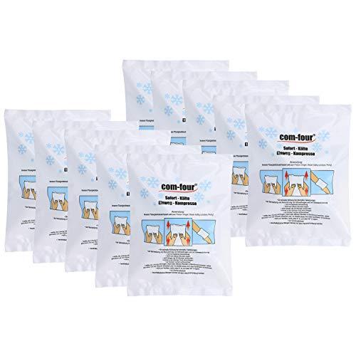 com-four® 10x Einweg Kälte-Sofort-Kompresse, Kältepack zum sofortigen Kühlen und für Erste-Hilfe-Maßnahmen, Kühlkissen zur äußerlichen Anwendung, 21 x 15 cm (10 Stück - Set 2)