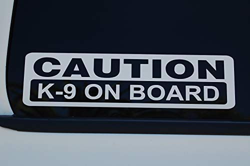 5 Star Graphics Caution K-9 On Board Sticker Vinyl Decal Choose Color & Size!! Police Law Enforcement Service Dog Security (V597) (10' X 3', Silver)