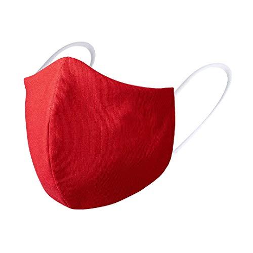Mascarilla Rosso Corsa | 4 UDS MASCARILLAS DE Tela Lavable Reutilizable 2 Capas Doble Ajuste Elastico. (ROJO)