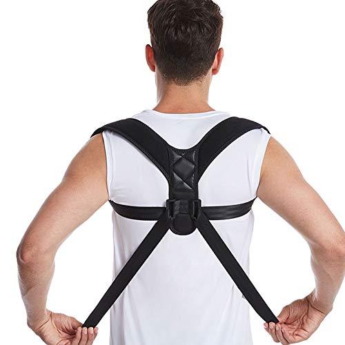 YWAWJ Corrector de postura de soporte trasero, dispositivo de soporte de hombro utilizado para corregir la postura ajustable y cómoda correa de soporte de clavícula para reducir el dolor de espalda su