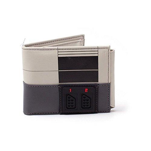 Nintendo NINTENDO NES Console Bi-fold Wallet, Multi-Colour (MW270709NTN) Münzbörse, 16 cm, Grau (Grey)