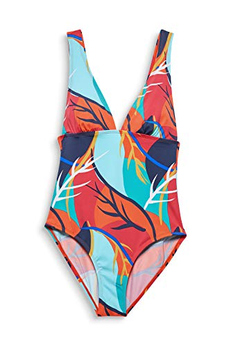 ESPRIT Bodywear Damen Tilly Beach Swimsuit Badeanzug, 825/RED ORANGE, 42