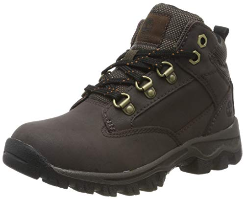 Timberland Unisex-Kinder Keele Ridge Leather Hiker Klassische Stiefel, Braun (Dark Brown, 25 EU