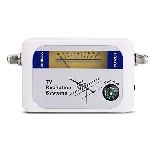 Cuifati Mini Antenna Digitale Portatile Ricerca Segnale satellitare Antenna TV Rilevatore misuratore di Potenza Ricevitore per antenne satellitari Remote, Antenna TV terrestre Aerea