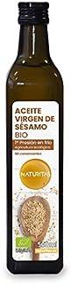 Naturitas Aceite de Sésamo de primera presión en frío Bio   500ml   Propiedades beneficiosas para la salud   Cultivo ecoló...