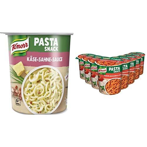 Knorr Pasta Snack Käse-Sahne-Sauce, 8 x 71 g + Knorr Pasta Snack Tomaten-Mozzarella-Sauce, 8 x 72 g