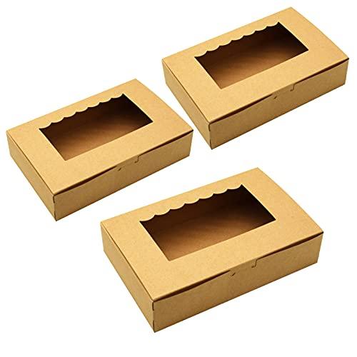 Tomedeks Scatola Per Dolci In Carta Naturale Da 12 Pezzi, Utilizzata Per Cupcakes E Macarons, Può Contenere 6 Cupcakes 21,5 * 13,5 * 5 Cm