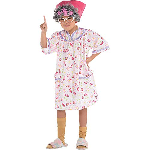 Suit Yourself Little Old Lady Halloween Costume for Girls, Medium, Includes Accessories