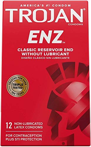 Trojan Non-Lub Latex Condoms, Enz 12 ct - 4pk