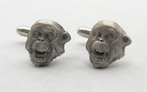 Boutons de Manchette Chimpanzé avec Boîte à Cadeau