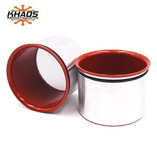 Khaos Motorsports Head Light Intake Ring Compatible with Dodge Challenger 2015+ (NVP Go Mango)