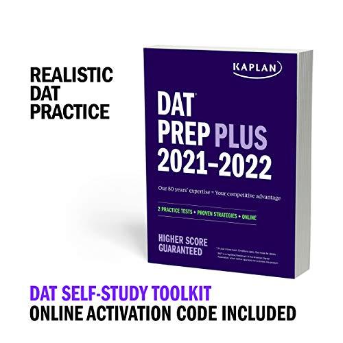 DAT Self-Study Toolkit 2021–2022: DAT Prep Plus Book + 4 Practice Tests + Qbank (Kaplan Test Prep)