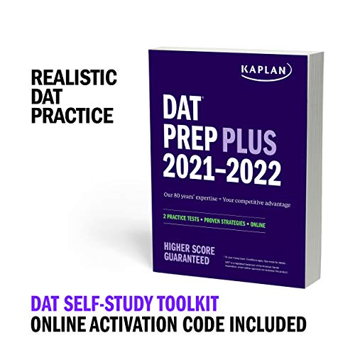 DAT Self-Study Toolkit 2021–2022: DAT Prep Plus Book + 4 Practice Tests +...