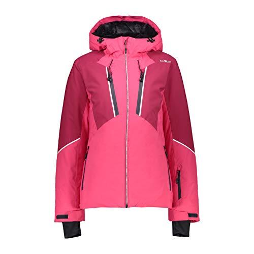 CMP Skijacke mit fester Kapuze, rosa (Carminio), 44 (XL)