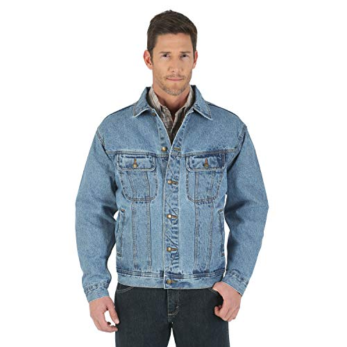 Wrangler Herren Rugged Wear Ungefütterte Jeansjacke - Blau - X-Large