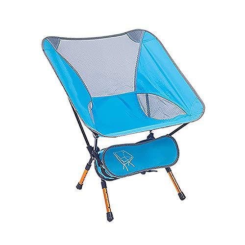 Tragbarer Campingstuhl mit Einstellbarer Höhe, kompakter ultraleichter Klapprucksack mit Einkaufstasche, 150 kg Kapazität Für den Außen- und Innenbereich