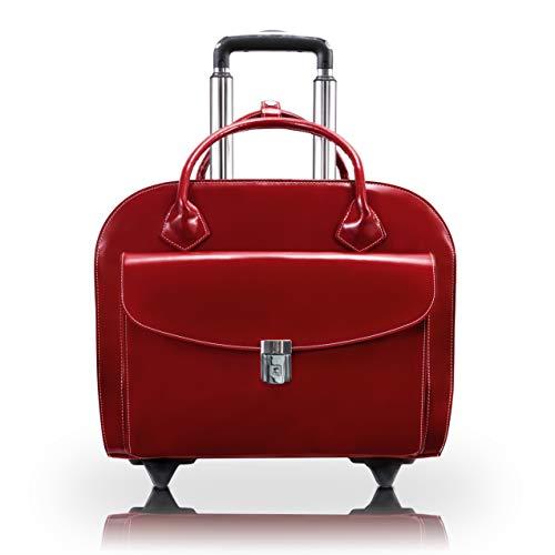 McKlein 96146A Granville Damen Laptoptasche aus genarbtem Rindsleder, 38,1 cm (15 Zoll), Rot