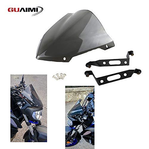 GUAIMI Motorcycle Windscreen Windshield Sport Screen Wind Deflector 28x38cm for Yamaha MT-07 FZ-07 MT07 FZ07 2018-2020