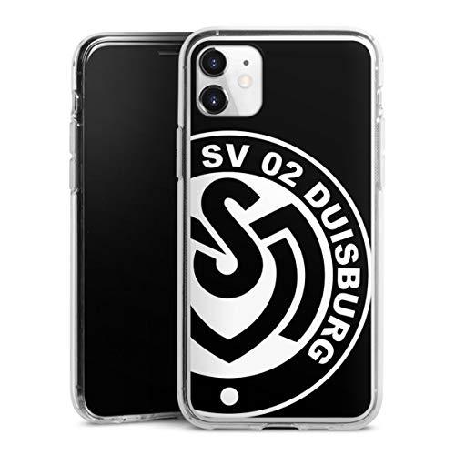 Silikon Hülle kompatibel mit Apple iPhone 11 Case transparent Handyhülle MSV Duisburg Bundesliga Offizielles Lizenzprodukt