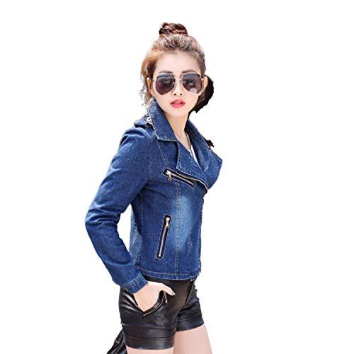 My Cat Suit Denim Jacket Short Slim Jeans Chaqueta Mujer Cremallera Casual Abrigo Mujer Ropa Exterior