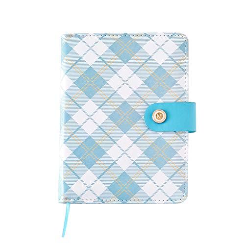 Koehope A6 Notitieboekje van PU-leer, geruit, harde kaft, dagboek, gelinieerd, draagbaar, klassiek plaid, notitieboek, notitieboekje, 15,6 cm x 11,7 cm 15,6cm*11,7cm # C