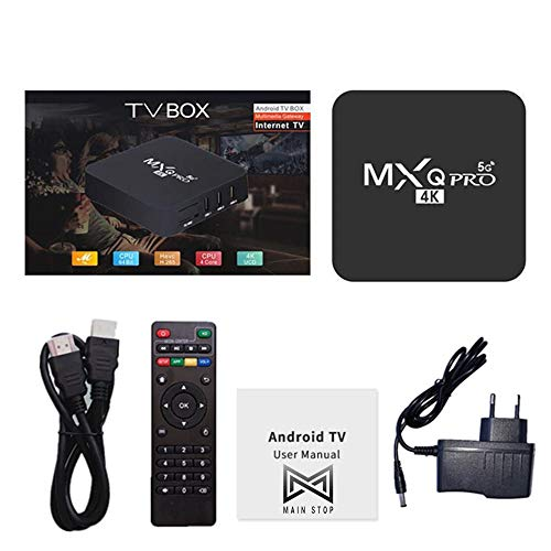 Main Stop® Smart TV Box MXQ PRO 5Ghz Android 9.0 4K HD 3D 2.4G 5G WiFi Amlogic S905W Smart tv 2GB 16GB Android TV Box Media Player Global