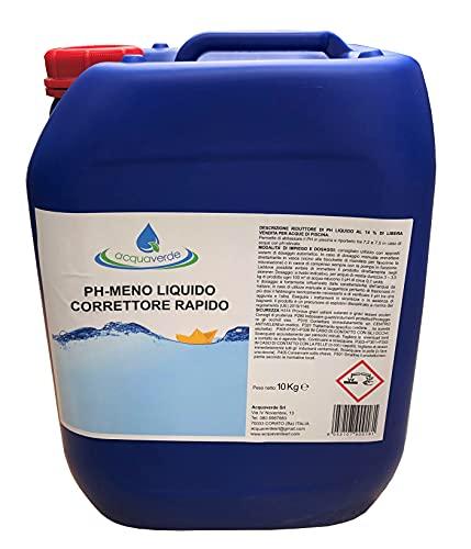 acquaverde PH Meno Liquido Piscine Correttore Abbattitore PH Acido Acqua Piscina Liquido lt 10