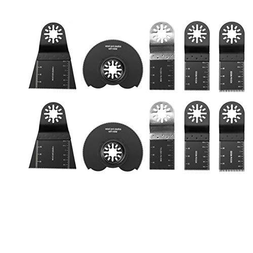 XIAOYUW 12pcs / Set Sierra oscilante Herramienta Multiusos Negro Cuchillas de Repuesto Conveniente