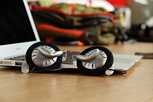 Koss KSC75 Auricolare stereo Clip-On per iPod, iPhone, MP3 e Smartphone, Grigio/Nero