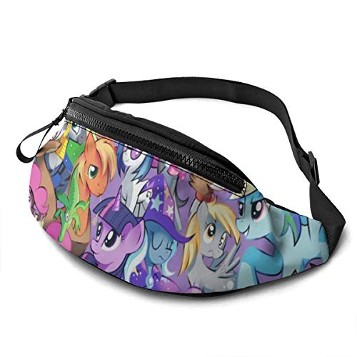 My Little Pony Casual Waist Bag Men Women with Adjustable with Adjustable Belt Sports Bag Running Bag Keep Fit with Exercise Jogging, Hiking Chest Pack Shoulder Bag
