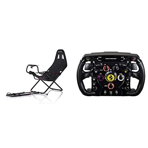 Playseat RC.00002 Challenge Sedile da Auto per Gioco, Nero & Thrustmaster Ferrari F1 Wheel AddOn (Steering Wheel AddOnPS4 / PS3 / Xbox One/PC)