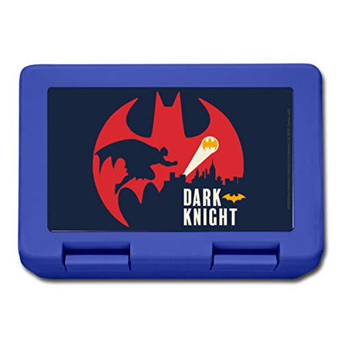 Spreadshirt Batman Dark Knight Chevalier Noir Boîte À Goûter, bleu royal