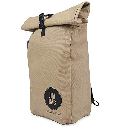 Jim Bag Travel Fitness Gym Roll Top Outdoor Waterproof Backpack Bag Fits Laptop Unisex Day Bag Laptop Storage Compartment Lightweight Work Business College Bag Camping Casual Stylish Rolltop Rucksack