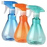 pobuu 3 Pièces Flacons Pulvérisateur Vaporisateur Vide, 500 ML Flacon Spray Vide Rechargeable en Plastique pour Nettoyage, Jardinage, Cuision