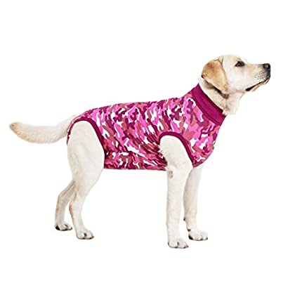 Suitical Recovery Suit Perro, M, Camuflaje Rosa