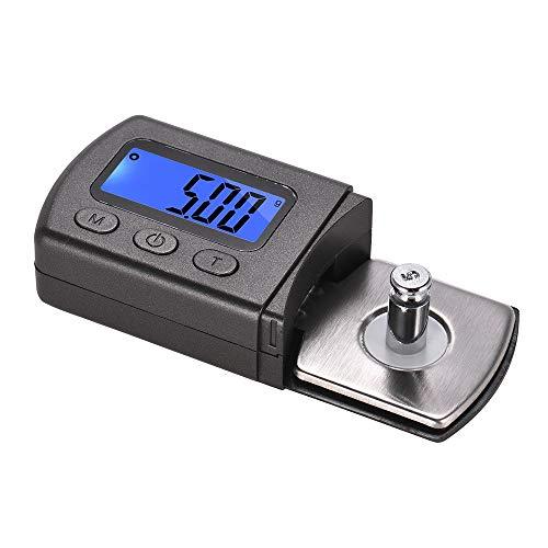 Kalaok Mini Plattenspieler Phono LP Stylus Force Scale Gauge ± 0.01g Genauigkeit LCD-Display mit einem 5g Gewicht