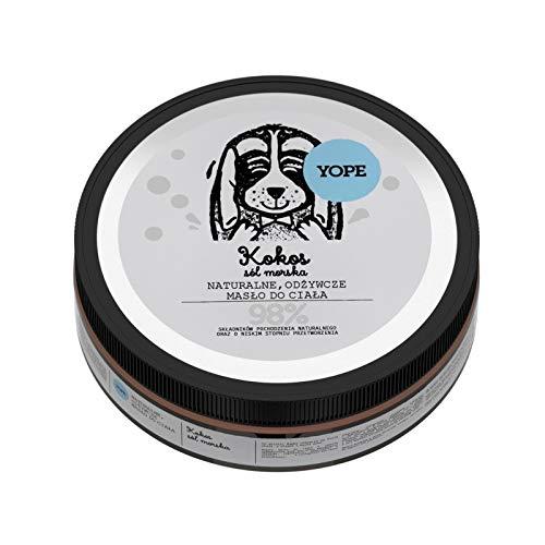 Yope Vegan Kokosnuss und Meersalz Körperbutter Body Butter, 98% natürlichen Inhaltsstoffe 200ml
