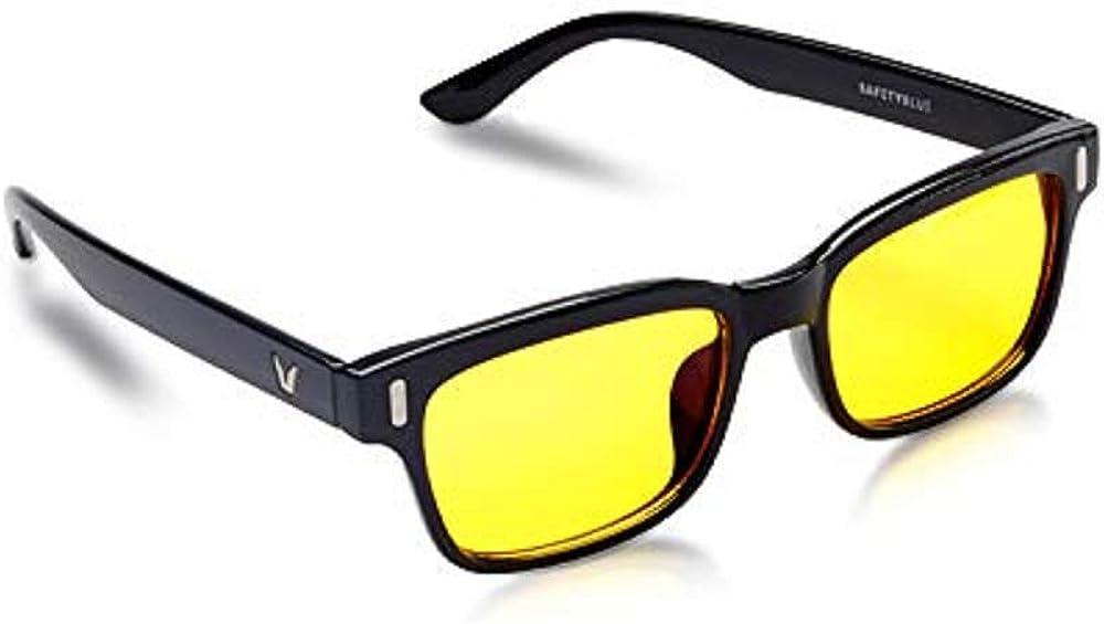 SafetyBlue Retro Day Glasses Blue Blocking for Men & Women | Reading Glasses | Gaming Monitors | Non-Prescription Glasses