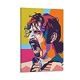 WODETA Pop Art Portrait von Allen Iverson Face Frank Zappa