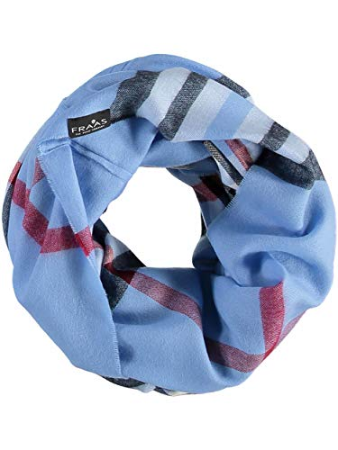 FRAAS Damen-Loop-Schal Kariert - The Plaid - Made in Germany - Stilvoller Schlauch-Schal mit Karo-Muster - Leichtes Rund-Tuch - Karierter Snood-Schal Blau