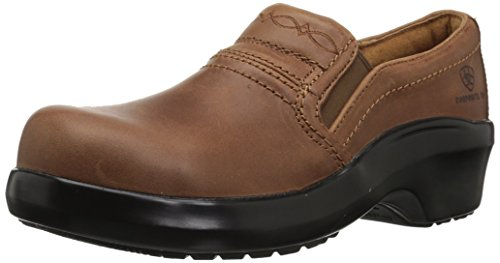 Ariat Women's Expert Static Dissipative Safety Clog Composite Toe Work Shoe, Brown, 9