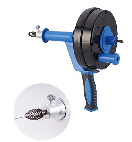 HARTOOL Rohrreinigungsgerät mit Spirale 6.35mm X 7.6M Rohrreinigungsspirale ausziehbar Abflussspirale ideal für das Entfernen von Haaren