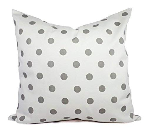 Amazon Com Custom Pillows Grey And White Pillow Shams Polka Dot Pillow Covers Storm Pillow Cases Decorative Pillow Handmade