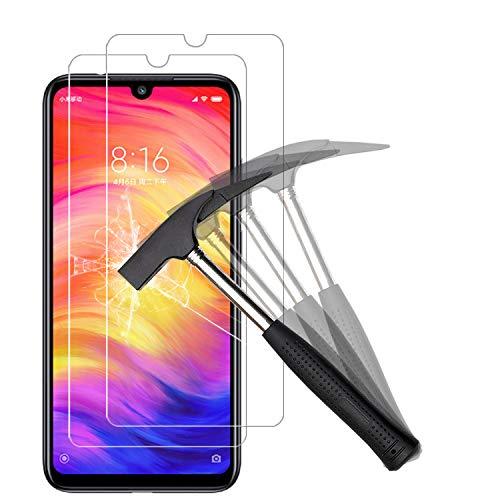 ANEWSIR Verre Trempé pour Xiaomi Redmi Note 7/Redmi Note 7 Pro, Protection D'écran Redmi Note 7/Redmi Note 7 Pro, Film Protection 9H Dureté, Installation Facile, sans Bulles, Anti Rayures -[2 Pièces]