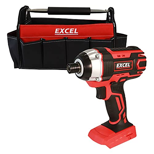 Excel 18V Cordless Impact Driver EXL553B with 16' Open Tote Bag