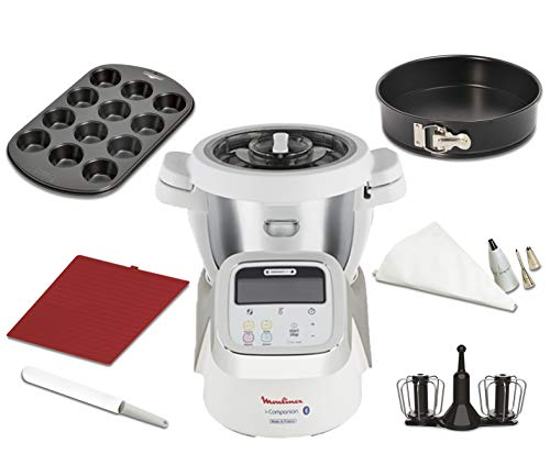 Moulinex i-Companion HF900110 - Robot de cocina Bluetooth 13 programas hasta 6...