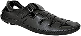Lee Fox Pure Leather Black Casual Loafer