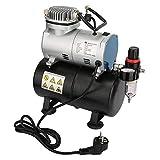 Compresor de Aerógrafo, AS186 Aerografo Modelismo Compresor de Aire, Aerógrafo con Compresor 220V EU Plug