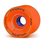 Orangatang 4 President 70 mm 80a Cruising Longboard Skateboard Wheels w/Loaded Jehu V2 Bearings (Orange, Set of 4)